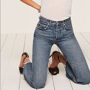 NWT REFORMATION SIZE 29 mid-crop flare jean baltic
